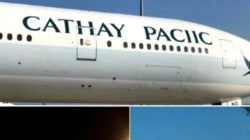 Cathay Pacific plane had a glaring spelling mistake