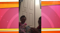 Giggling daughter loves her dad's funny animal sounds