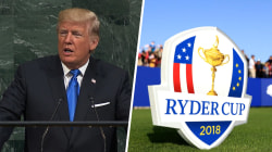 What's next: Trump address UN, US golfers compete in Ryder Cup