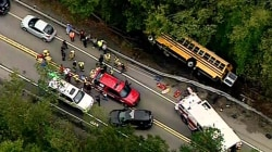 Frightening school bus accident in Pennsylvania injures 6 children