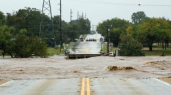 Watch floodwaters flow through large parts of Texas after heavy rain