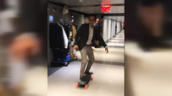 Gadi Schwartz puts his electric skateboard skills to the test