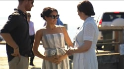 Pregnant Duchess of Sussex takes break from royal tour
