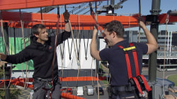 Bear Grylls helps Keir Simmons conquer his fears