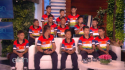 Rescued Thai soccer team talks with Ellen DeGeneres