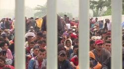 Migrant caravan headed toward US stopped at the Guatemala-Mexico border