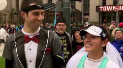 Couple gets married in the middle of a marathon!