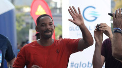Will Smith runs Havana half marathon to mark 50th birthday
