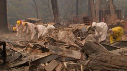 California wildfires: Search for the missing continues
