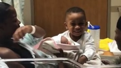 Watch: Boy meets new baby sister for 1st time in precious video