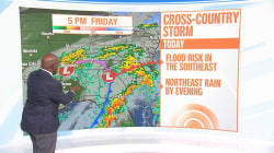 Forecast: Winter storm brings heavy rain to East Coast