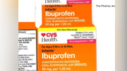 Infant ibuprofen sold at Walmart, CVS, Family Dollar recalled