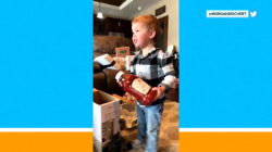 Boy ecstatic over ketchup for Christmas, plus holiday hoverboard fail