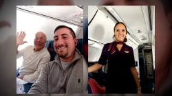 Dad books flights to spend holidays with flight attendant daughter