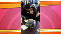 Watch: Co-workers surprise college student with plane ticket home