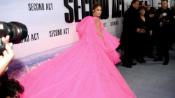 J.Lo is pretty in pink at 'Second Act' premiere
