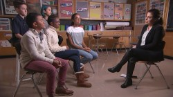 Middle schoolers discuss impact of judging less and accepting more