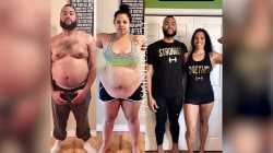 Couple loses 215 pounds with simple diet and exercises changes