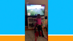 Clever dad finds way to take daughter's bouncy horse to the next level