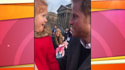 Watch: Prince Harry bonds with fellow redhead in cute moment