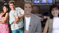 'Saved by the Bell' stars Mark-Paul Gosselaar and Tiffani Thiessen stop by TODAY in 1993