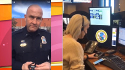 Officer signs off after 25 years with call to dispatcher daughter