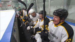 Inside the hockey league that has seniors lacing up their skates
