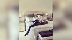 Hilaria Baldwin shares an exercise for your hips – that you can do in bed