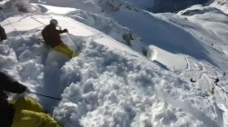 Helmet video shows skiers caught in Austrian Alps avalanche