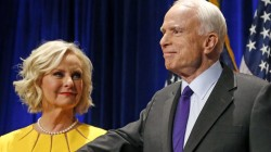 Cindy McCain posts strangers' hateful messages after Trump attack on husband