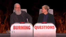 Watch David Letterman answer Ellen's burning questions