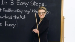 See Kate McKinnon's tutorial teaching kids about telling jokes