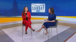 What are Hallie Jackson and Morgan Radford's favorite scary movies?