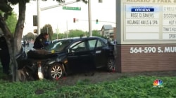 Driver 'deliberately' plows into crowd, injuring 8