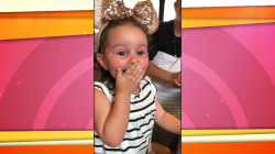 Little girl visiting Disney World ecstatic over Donald Duck sighting