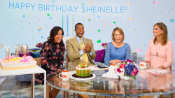 Watch Sheinelle's family send her sweet birthday messages