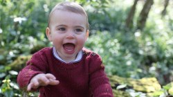 Prince Louis all smiles in new official portraits for his 1st birthday