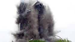 Iconic Bethlehem Steel HQ crumbles after controlled implosion