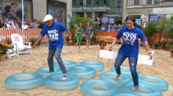 See TODAY fans compete in a summer obstacle course