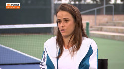 Tennis star shares how her dentist discovered rare form of cancer