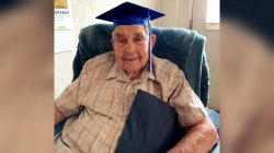 95-year-old World War II vet graduates high school