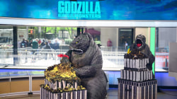 Monster-sized showdown! Fans compete in 'Godzilla' obstacle course