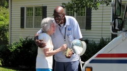 Beloved mailman who retired after 35 years gets special send-off