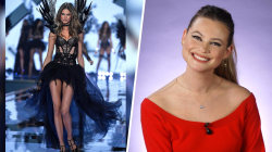 Model Behati Prinsloo used to slouch to make herself seem shorter