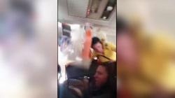 Severe turbulence slams flight attendant into plane ceiling