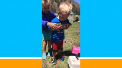 'Reel' excited! Toddler has best reaction to catching 1st fish