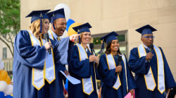 TODAY anchors host graduation for 8th graders on the plaza