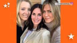 Courteney Cox celebrates birthday with 'Friends'