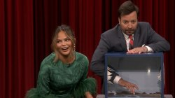 Chrissy Teigen and Jimmy Fallon freak out playing mystery box game