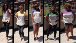Watch 5 women try on the $15 T-shirt with over 3,000 reviews